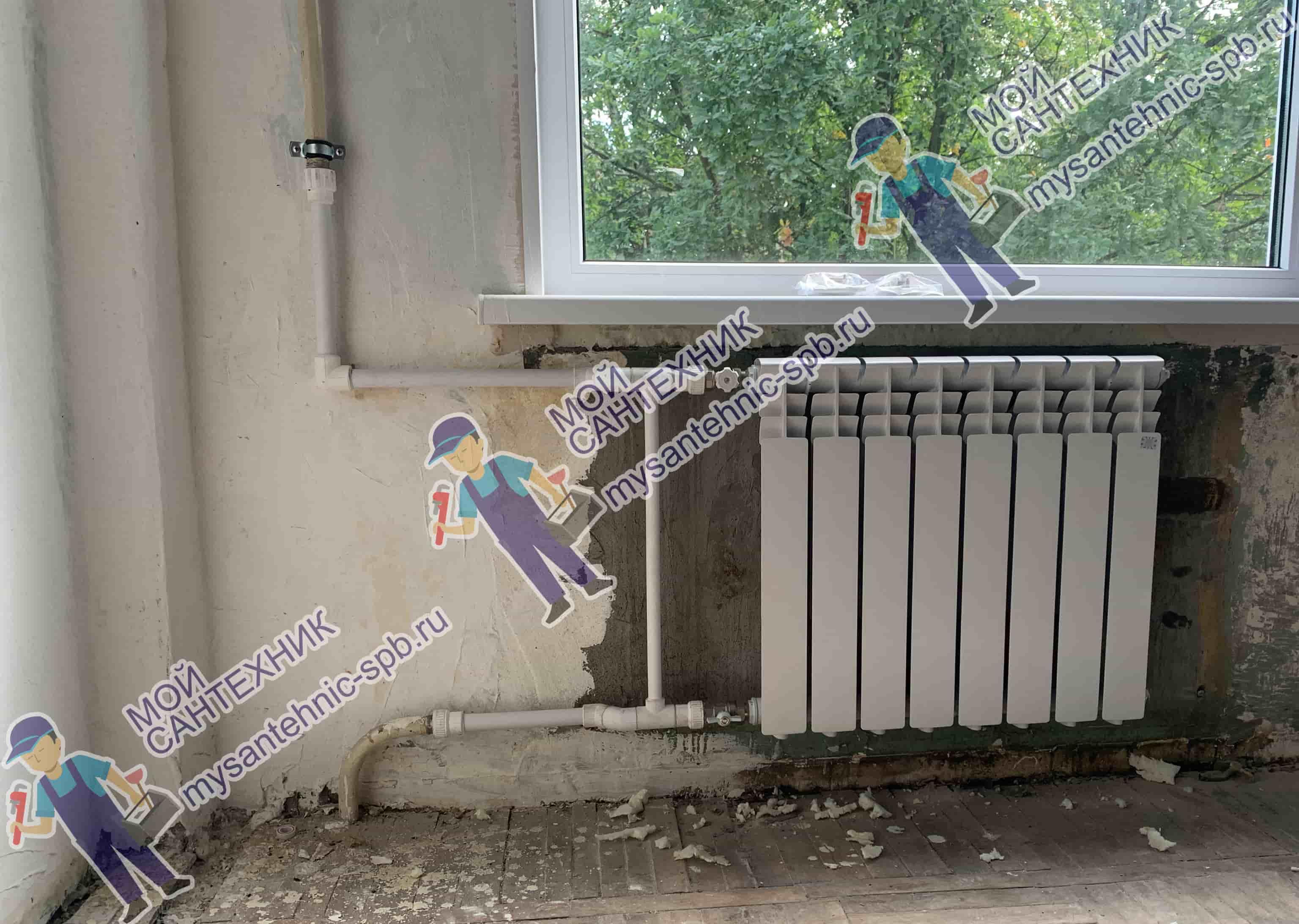 Замена радиатора отопления «под ключ»